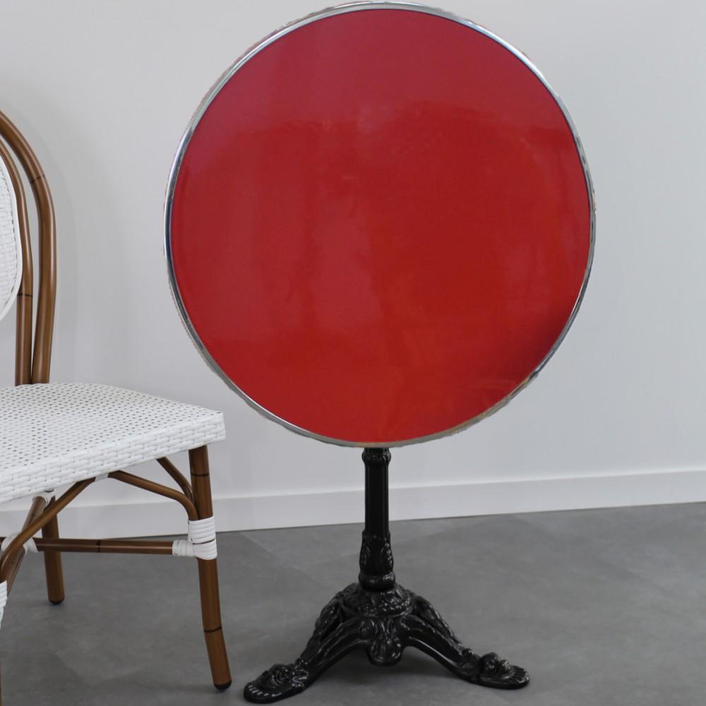 Table De Bistrot Emaillee Pliante
