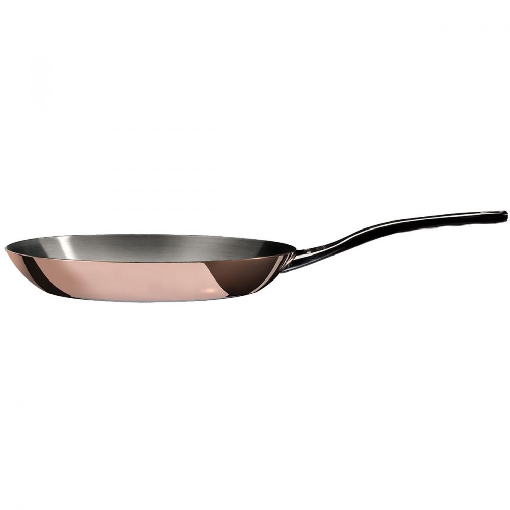 PRIMA MATERA Round Copper Stainless Steel Fry Pan 8-Inch de Buyer 6224.2