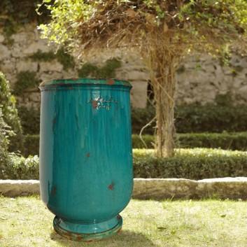 Jarre à huile Anduze Turquoise Poterie de la Madeleine