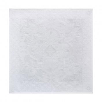nappe coton azulejos blanche jacquard. Black Bedroom Furniture Sets. Home Design Ideas