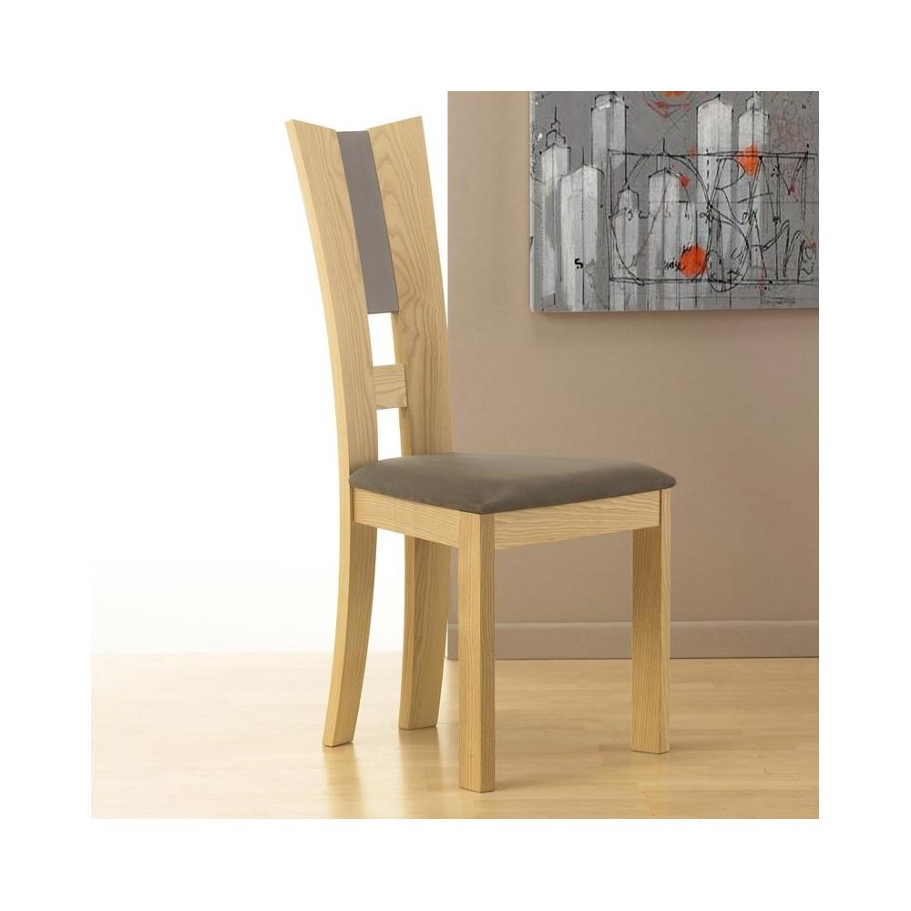 chaise contemporaine bois massif. Black Bedroom Furniture Sets. Home Design Ideas